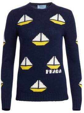 Prada Virgin Wool& Cashmere Boat Knit