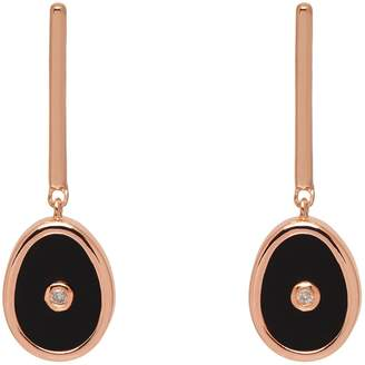 Lola Rose London - Curio Diamond Mini Oval Drop Earrings Black Onyx
