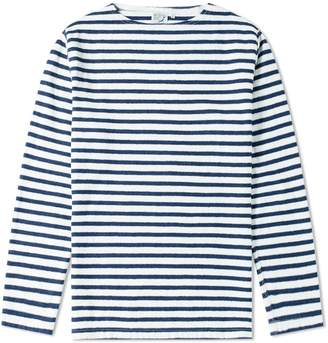 orSlow Long Sleeve Stripe Tee