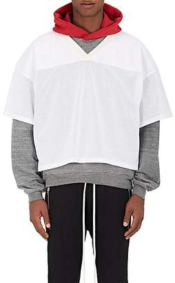 Fear Of God Men's Logo-Patch Football Jersey - White Size M