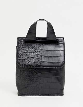 Asos Design DESIGN mini croc backpack