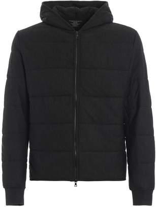 Majestic Filatures Charcoal Slightly Padded Hooded Sweat Jacket