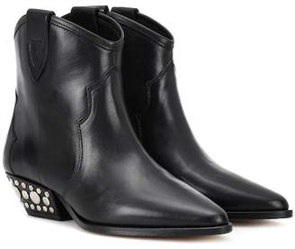 Isabel Marant Dawnya studded leather ankle boots
