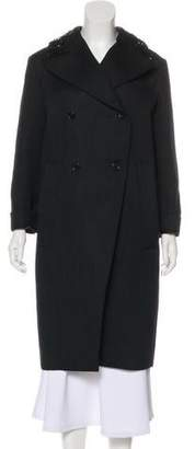Marni Embellished Wool Knee-Length Coat