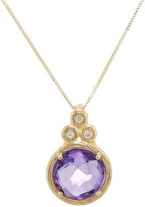ADI Paz Round Gemstone & Diamond Necklace, 14K