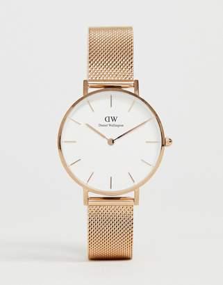 Daniel Wellington DW00100163 Mesh Watch In Rose Gold
