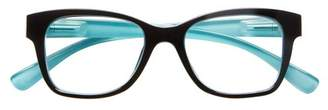 ICU Eyewear Screen Vision Lifted Oval Black Turquoise Glasses
