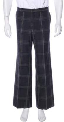 Miu Miu Wool Plaid Pants