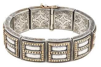 Konstantino Two-Tone Etched Bracelet