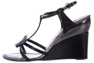 Louis Vuitton Embellished Wedge Sandals
