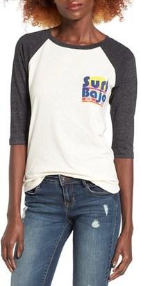Women's Roxy Surf Baja Raglan Sleeve Tee $32.50 thestylecure.com