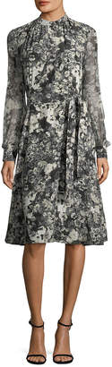 Lanvin Floral Silk Dress