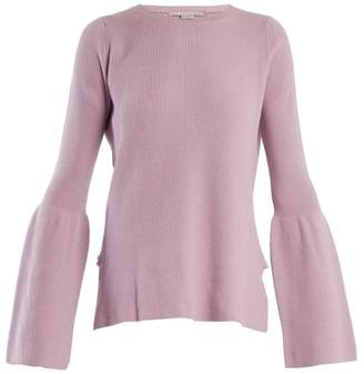 Stella McCartney Flare Sleeved Wool Sweater - Womens - Light Purple