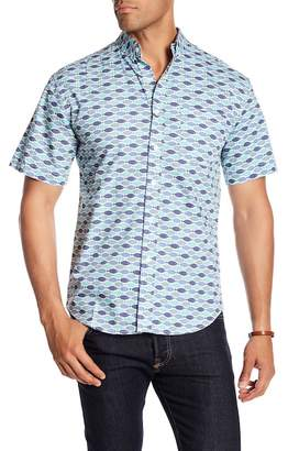 LOFT 604 Fish Print Regular Fit Woven Shirt