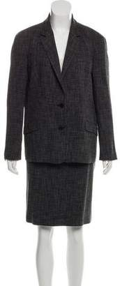 Calvin Klein Collection Tweed Knit Skirt Suit
