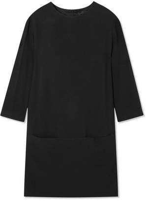 The Row Marina Crepe Mini Dress - Black