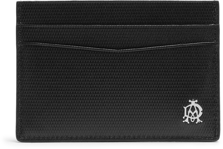 Alfred DunhillDUNHILL Engine Turn leather cardholder