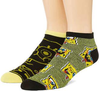 Nickelodeon Novelty Socks 2 Pair Spongebob Low Cut Socks-Mens