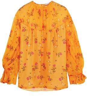 ADAM by Adam Lippes Lauren Floral-Print Silk-Chiffon Blouse