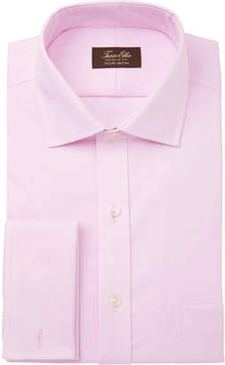 Tasso Elba Men Classic/Regular-Fit Non-Iron Supima Cotton Herringbone Solid French Cuff Dress Shirt