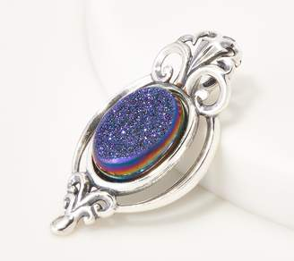 Couture Carolyn Pollack Country Oval Drusy Sterling Silver Enhancer