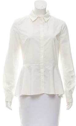 Marchesa Voyage Long Sleeve Button-Up Top w/ Tags
