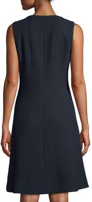 Lafayette 148 New York Celinda Wool Crepe Zip-Front Dress