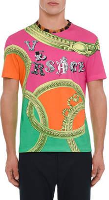 Versace Men's Graphic Logo Print T-Shirt