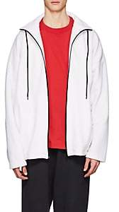 Balenciaga Men's Embroidered Fleece Oversized Jacket - White