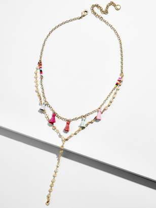 BaubleBar Topaz Layered Y-Chain Necklace
