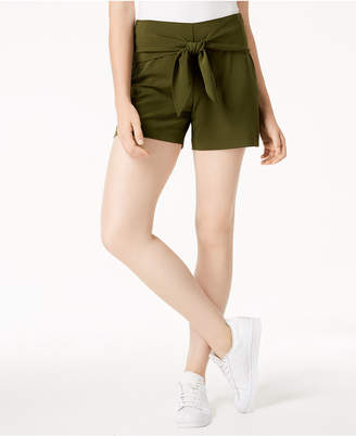 Bar III Tie-Waist Shorts, Created for Macy's