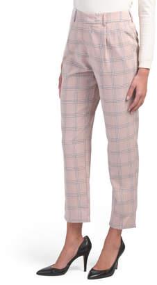 Juniors Menswear Plaid Pants