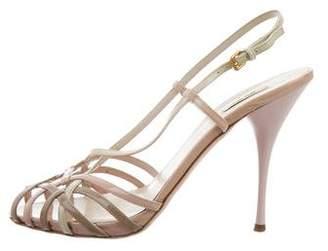 Miu Miu Cage Ankle Strap Sandals