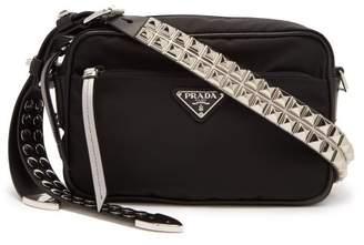 Prada - New Vela Nylon Cross Body Bag - Womens - Black Silver