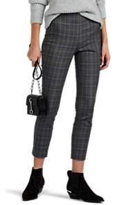 Rag & Bone Women's Simone Checked Cotton-Blend Pants - Gray