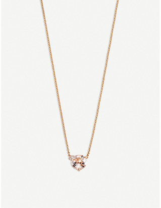 Rosegold BUCHERER JEWELLERY Peekaboo 18ct rose-gold and morganit necklace