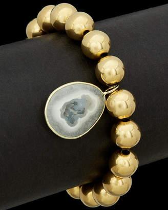 Meira T Silver Plated Quartz Stretch Bracelet