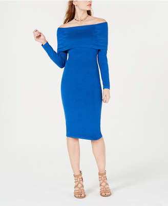 XOXO Juniors' Off-The-Shoulder Sweater Dress