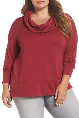 Caslon R R) Cowl Neck Tunic Sweatshirt (Plus Size)