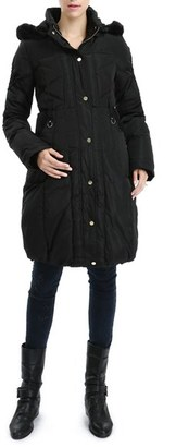 Women's Kimi And Kai 'Minnie' Water Resistant Down & Feather Fill Maternity Coat $248 thestylecure.com