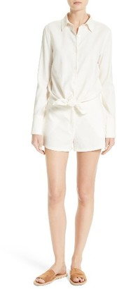 Women's Theory Ranay Linen Blend Romper $375 thestylecure.com