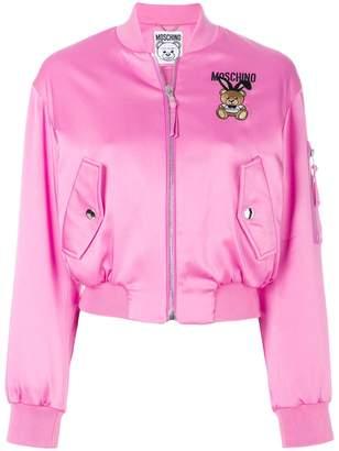 Moschino Playboy Toy Bear bomber jacket
