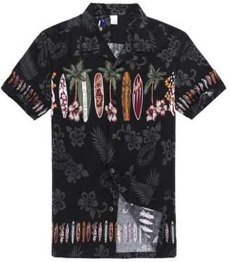 Hawaii Hangover Hawaiian Shirt Aloha Shirt in Black Surf Boards