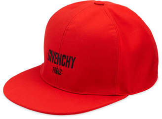 Givenchy Logo Flat-Bill Hat, Red