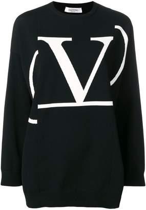 Valentino oversized contrast logo jumper