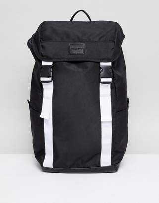 Asos (エイソス) - Asos Design ASOS DESIGN backpack in black with white double straps