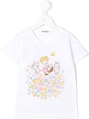 Familiar picnic motif T-shirt