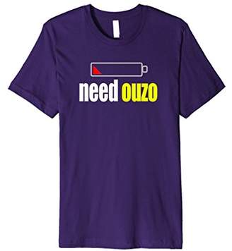 Funny Ouzo T-shirt for Greek Americans Greece Pride Tee