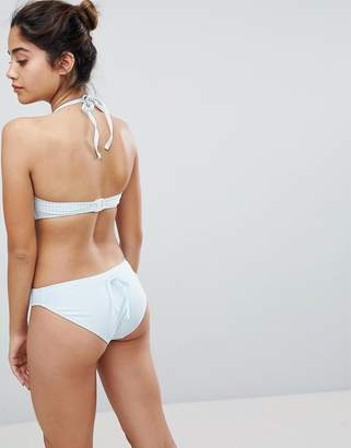 Playful Promises Stripe Cheeky Bikini Bottoms With Bow Back Detail