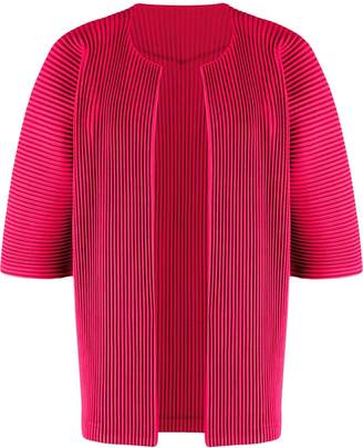 Issey Miyake Homme Plissé open front pleated cardigan